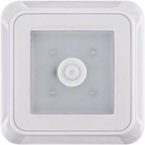 Lampe LED pour montage sous un meuble avec détecteur de mouvements Müller Licht 57014 LED intégrée 0.5 W blanc neutre 8.8 cm blanc