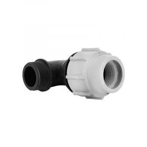 Coude 90° avec dérivation filetée PE compression PLASSON Ø32-1 de Plasson - Raccord PE compression
