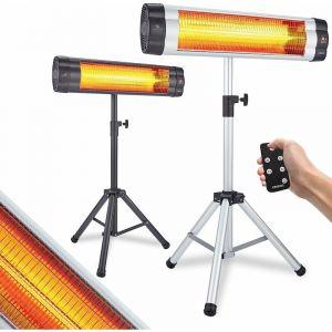 Arebos - Chauffage Radiant Infrarouge 2500 W avec télécommande Électrique minuteu