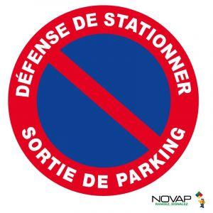 Panneau Défense de stationner sortie de parking - Rigide Ø450mm - 4080697 - NOVAP