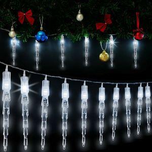 Guirlande lumineuse 40 LED 10 stalactites 2 mètres extérieur/intérieur - DEUBA