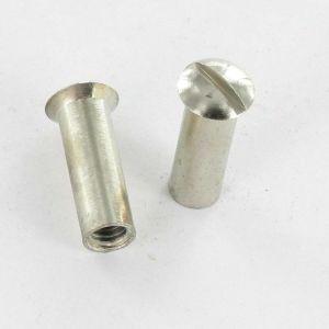 ECROU RELIEUR TETE FRAISEE BOMBEE TFB FENDUE M4X12 5X16 LAITON CHROME | Conditionnement: Unitaire - VIS?EXPRESS