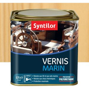 Vernis marin incolore Syntilor: brillant, mat ou satiné (satiné - pot de 0,75 l) - Aspect - Conditionnement : Satiné - Pot de 0,75 L