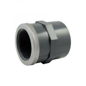 Manchon PVC pression mixte renforcé FF Ø50-11/2 - Catégorie Raccord PVC pression