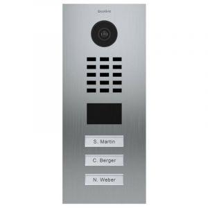 Portier vidéo IP multi-utilisateurs - 3 sonnettes - Doorbird D2103V Inox