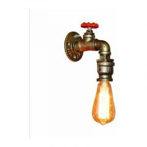 E27 Applique Murale Créatif Retro Industrial Lampe de Tube Tuyau forme Robinet Métal Fer - STOEX