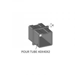 Connecteur droit Tube carré 40x40 ép 2mm - DECO FER FORGE