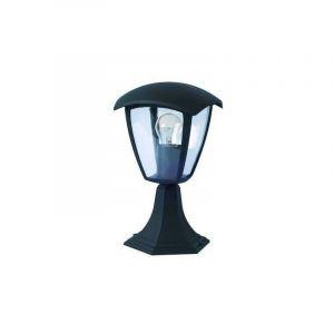 Lanterne 220V E27 Noire étanche IP44 avec pied - OPTONICA
