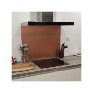 Crédence Aspect Cuivre Brossé en Aluminium composite - Hauteur 50 cm x Largeur 80 cm - ALUCOULEUR