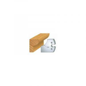219 : jeu de 2 fers 50 mm 1/4 de rond 25 mm pour porte outils 50 mm - LUXOUTILS