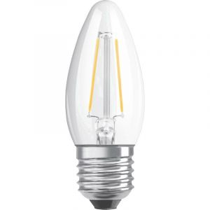 OSRAM LED EEC classe A++ (A++ - E) E27 en forme de bougie 2.5 W = 25 W blanc chaud (Ø x L) 35 mm x 95 mm à filament 1 pc(s)