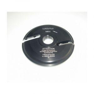 Porte outils plate bande 150 mm Dessous - toupie 30 mm - LUXOUTILS