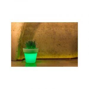 Pot de Fleurs Begonia en résine Rond H45 Lampe Verte Ø 50Cm - IDRALITE