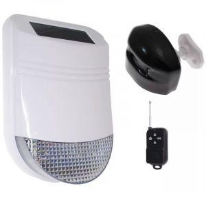 Kit 1 détection extérieure avec sirène solaire sans-fil 105dB IP66 + télécommande (gamme HY) - ULTRA SECURE