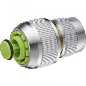 AROZ Raccord de connexion 6 billes automatique avec clapet aquastop pour tuyau d'arrosage diamètre 19 mm