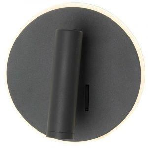 Eclairage Design - Applique Liseuse LED EMMY Hotel Anthracite 12W | Température de Couleur: Blanc chaud 2700K
