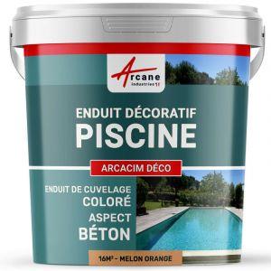 ENDUIT DE CUVELAGE PISCINE FINITION BETON CIRE - ARCACIM DECO - ARCANE INDUSTRIES - Melon - Orange - Kit de 16m²