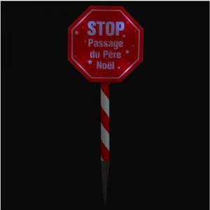 Panneau stop passage du Père Noël - La boutique de Noel