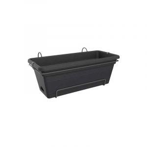 ELHO Balconniere Green Basics Allin1 55 - Extérieur & Balcon - XL - L 32,3 x W 56,4 x H 22,7 cm - Vivre noir