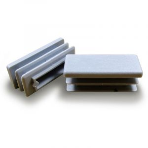Ajile - Embout rectangulaire à ailettes 40 x 27 mm Plastique GRIS
