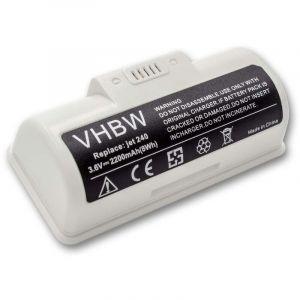 vhbw Li-Ion batterie 2200mAh (3.6V) pour robot nettoyeur de sol Home Cleaner robots domestiques iRobot Braava jet 240