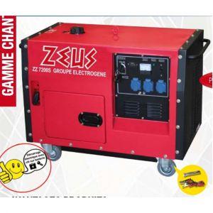 Zeus - Groupe electrogene 6000 W silencieux Démarrage électrique - ZZ7200S