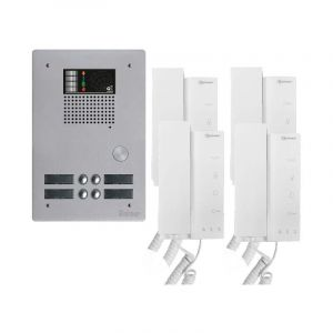 Kit interphone avec 4 combinés Collectif - Golmar