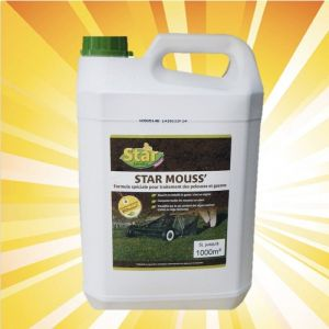 Outiror - Fertilisant engrais spécial pelouse et anti-mousse 5 litres