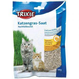 Herbe biologique, sachet semences pour # 4232 - sac/env. 100 g - Lot de 5 - TRIXIE