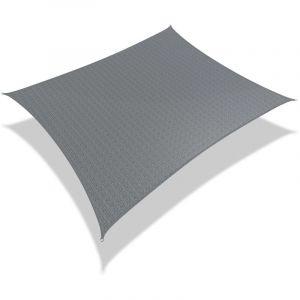 Voile d'ombrage rectangulaire avec 24pcs kit de fixation 3x2.5m / Gris - VOUNOT