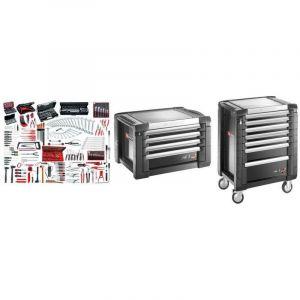 JET7.M150A Sélection maintenance industrielle 333 outils plus servante 7 tiroirs et coffre - FACOM