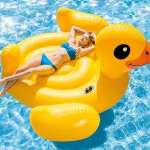 Intex Bouée gonflable Mega Yellow Duck Island 56286EU