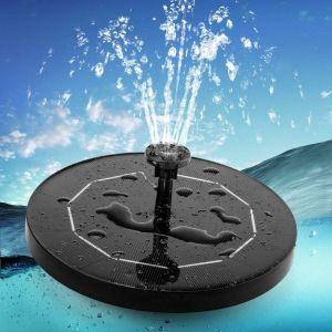 Briday - Fontaine Solaire pour Bassin avec Panneau Solaire 3,5 W 1500 mAh Batterie intégrée Pompe à Eau Solaire Flottante Pompe à Fontaine avec 6 Styles de Fontaine