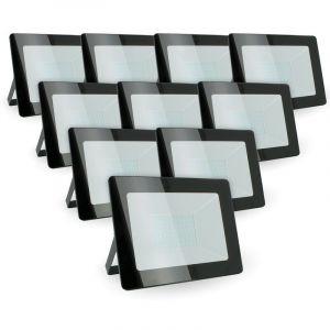 Eclairage Design - Lot de 10 projecteurs LED 50W IP65 extérieur   Température de Couleur: Blanc chaud 3000K