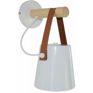 Applique Murale LED Industrielle éclairage Moderne Wall Light Luminaire Avec E27 Prise pour Maison, Chambre, Bar, Restaurants, Café, Club de Décoration (Blanc) - IDEGU