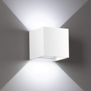 7W Led Applique murale chambre Moderne Interieur, Up and Down Design Réglable Lampe, Aluminium luminaires applique murale led Blanc pour Chambre Maison Couloir Salon (Blanc froid ) - STOEX