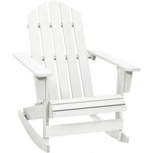 Fauteuil à bascule bois chaise relaxation - VIDAXL