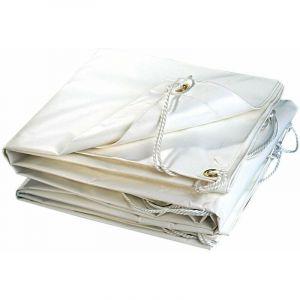 Bâche plastique PVC blanche 300g/m2 5 x 8 - TERRE JARDIN