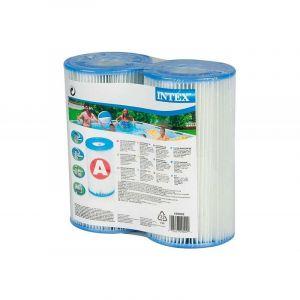 Cartouche de filtration Intex, Dacron Type A 200x110mm Lot de 2 cartouches