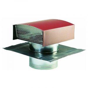 Chapeau de toiture métallique tuile 160 - ECONONAME - CTM160T Chapeau de toiture en métal couleur tuile, pour le rejet ou la prise d'air de conduits de ventilation ou hotte de cuisine. Diamètre 160 mm