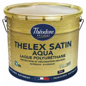Peinture laque acrylique satinée haut de gamme pour bois, boiseries, meubles et murs : Thelex satin aqua - RAL 1005 Jaune miel - 12L - PEINTURES THEODORE