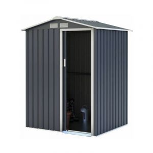 Abri de jardin en metal - 1,91 m2 -1 porte coulissante - Gris anthracite