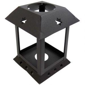 ABAT JOUR (S) - Lanterne Métal Carrée 10 x 7 x 7 (cm) - Rustique - L'ATELIER DE LA GUIRLANDE