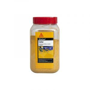 Colorant en poudre pour ciment, chaux et plâtre SIKA SikaCem Color - Jaune - 400g