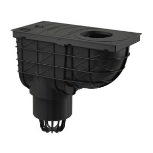 Bac de récupération d'eau de pluie pour tuyaux de descente 300/155/110 VERTICAL - ALCAPLAST