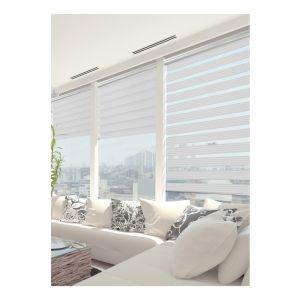 120 x 220cm - Store Enrouleur Jour Nuit Must - Blanc et noir - MADECO