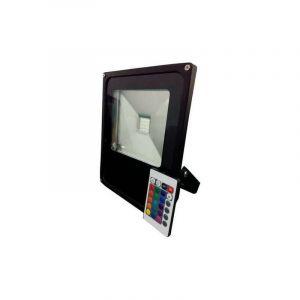 Optonica - Projecteur LED RGB 10W avec télécommande RadioFréquence - Noir