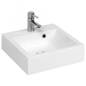 Vasque carrée à poser RESICUB 40 cm - blanc - VASQUE RESICUB