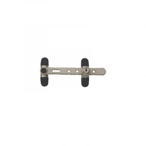 Entrebâilleur de sécurité pour fenêtres AIRLOCK à clé Nickel Satiné CG31034 - SOCONA