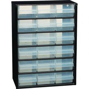 Casier de rangement 18 tiroirs 420x147x306mm Drakkar